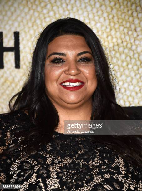 Gold Star family member Lupita Garza arrives at the premiere of National Geographic's 'The Long Road Home' at Royce Hall on October 30 2017 in Los...