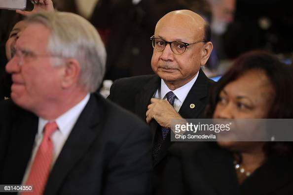 Gold Star father and Donald Trump critic Khizr Khan the father of fallen US Army Captain Humayun Kahn attends the confirmation hearing for Sen Jeff...