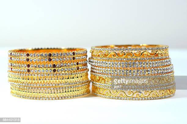 Gold stone Bangles
