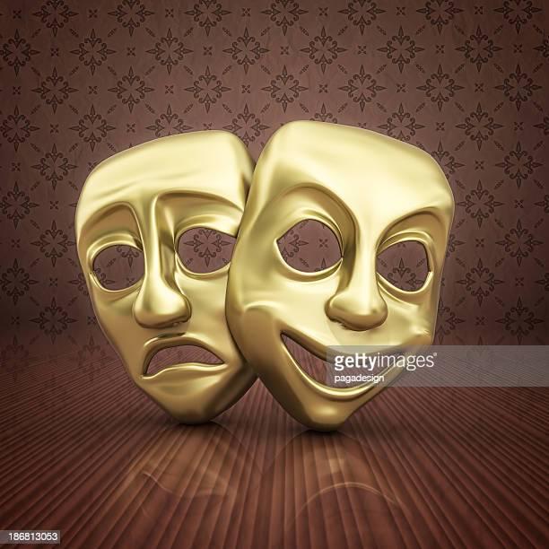 Or masques de théâtre