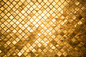 Gold Tiles Background Nobody Texture Pattern