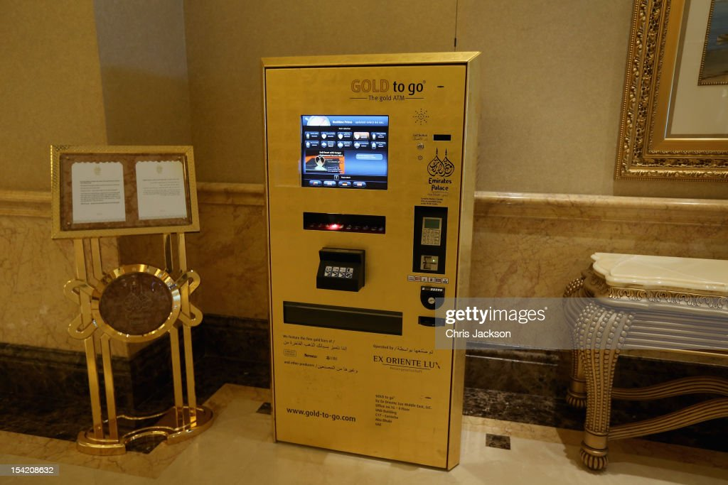 A 'Gold to Go' ATM inside the Emirates Palace Hotel on day five of the Abu Dhabi Film Festival 2012 at Emirates Palace on October 15, 2012 in Abu Dhabi, United Arab Emirates.