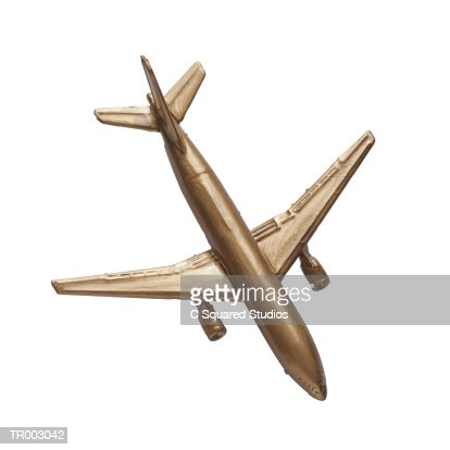 Gold Toy Plane