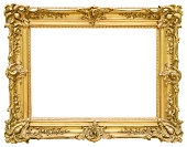Gold vintage frame isolated on white backgroundGold vintage frame isolated on white background