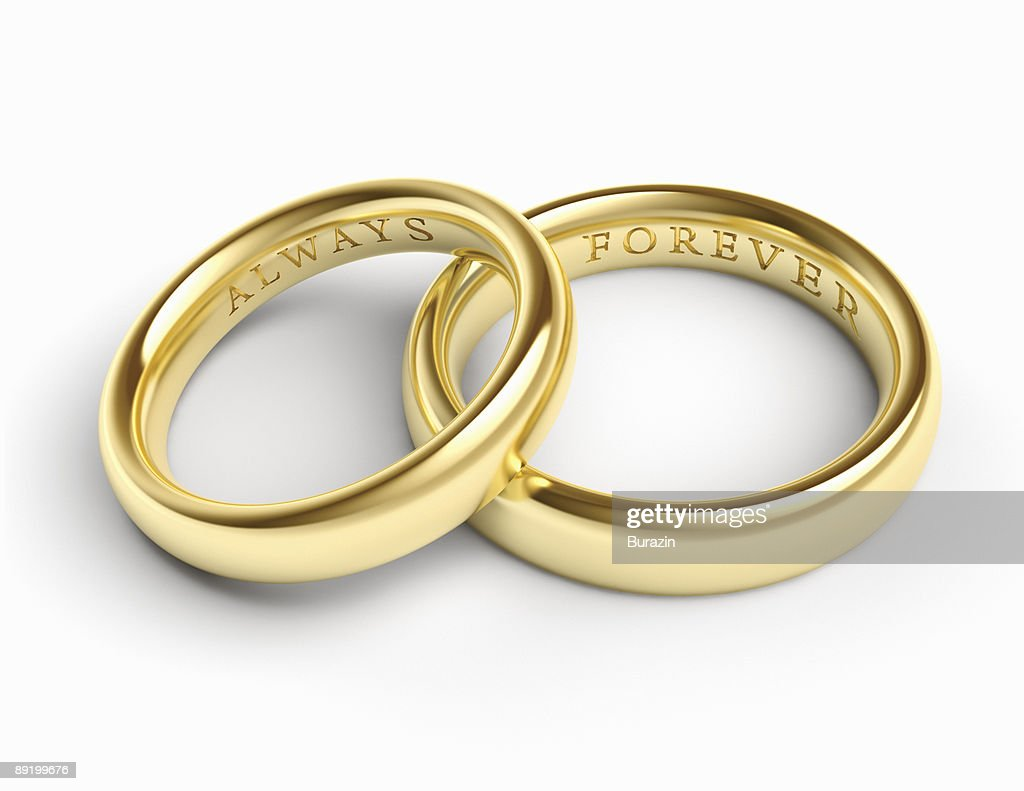 Gold Wedding Bands Rings Stock Photo   Getty Images