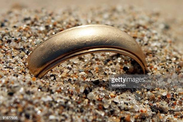 Gold Wedding Ring Lost in the Sand