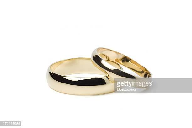 Anneaux de mariage or (Tracé de détourage