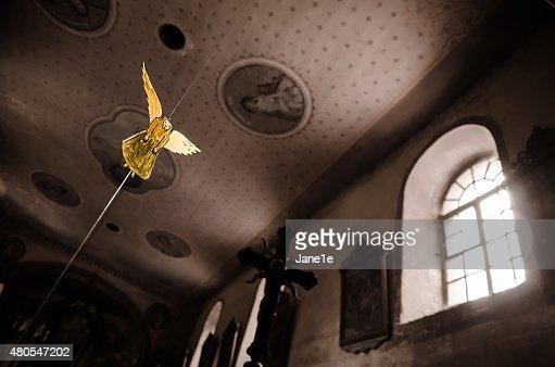 Golden angel : Foto de stock