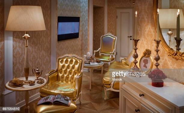 Golden apartment in Moscow