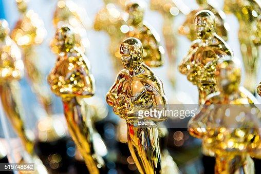 Golden award statues clone