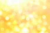 golden sparkle bokeh background or bokeh wallpaper