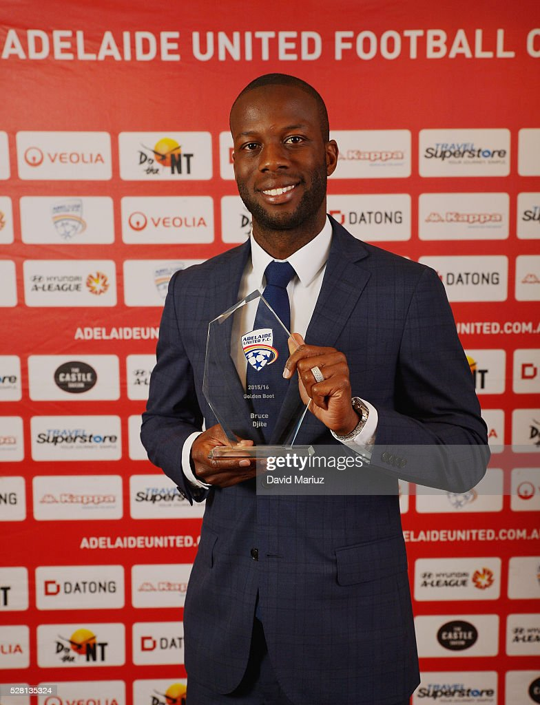Golden Boot Award Award - Bruce Djite during the 2016 Adelaide United Awards Night on May 4, 2016 in Adelaide, Australia.