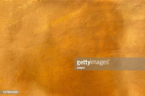 Golden brass metal plate background textured surface XL