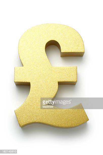 Golden British Pound Symbol
