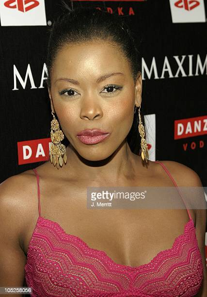 Golden Brooks during Maxim Magazine Valentines Day Love Party Arrivals at Papaz in Hollywood California United States