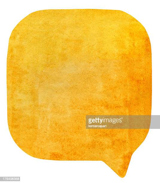 Golden Brown watercolour speech bubble