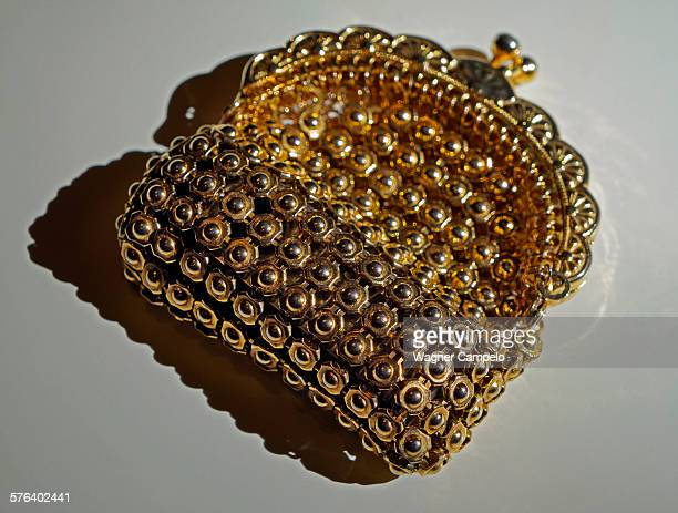 Golden change purse