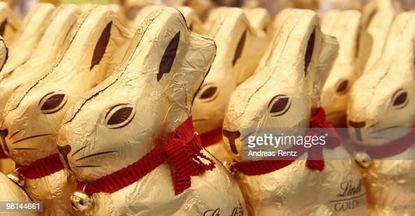 Golden chocolate easter bunny's are pictured on March 30 2010 in Berlin Germany Easter is among the main religious holidays in Germany