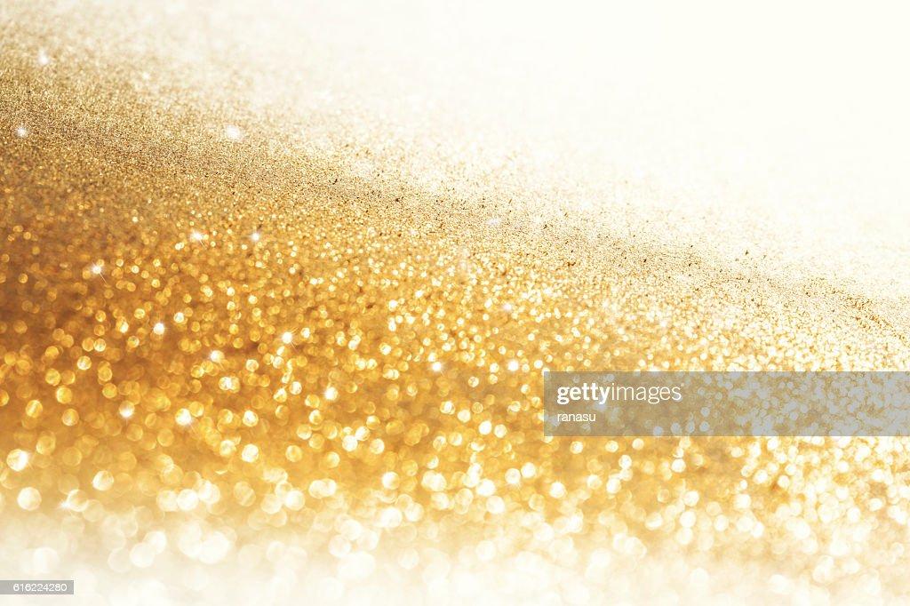 Golden Christmas background : Stock Photo