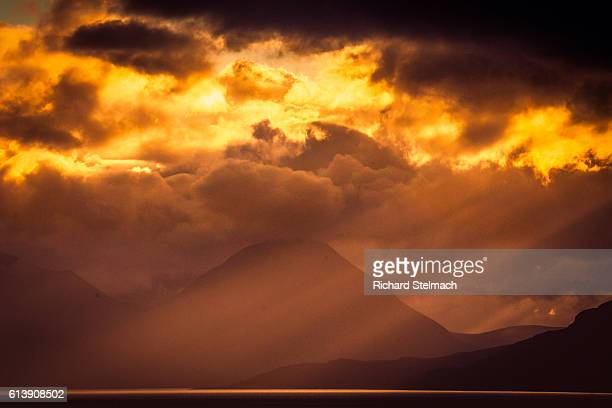 Golden CLouds over The Isle of Skye
