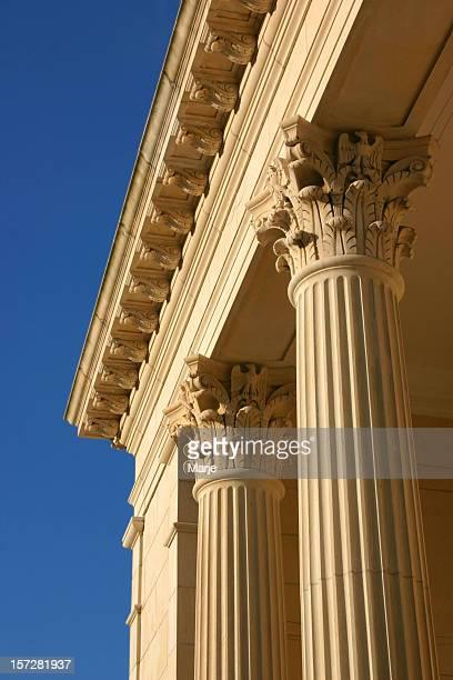Golden Columns, Blue Sky