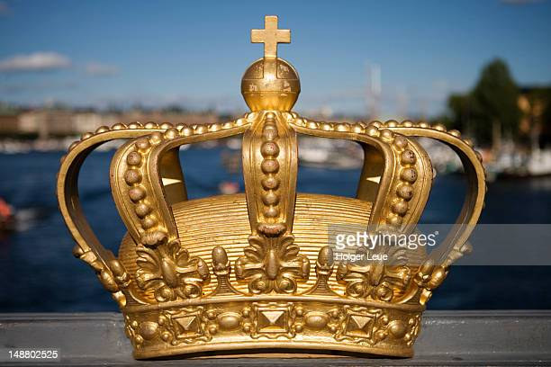 Golden crown on Skeppsholmsbron Bridge, Skeppsholmen.