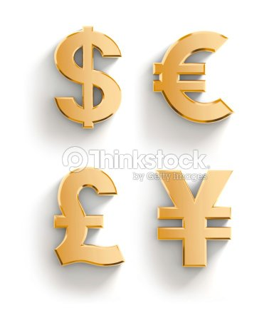 Golden Currency Symbols Stock Photo Thinkstock