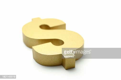 Golden Dollar Sign : Stock Photo