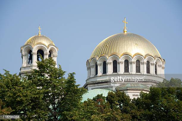 Golden Domes of a Church