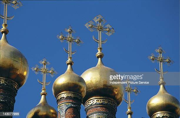 Golden Domes of the Kremlin Moscow Russia