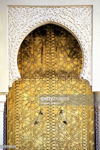 Golden Door and an Arch Way, Casablanca, Morocco