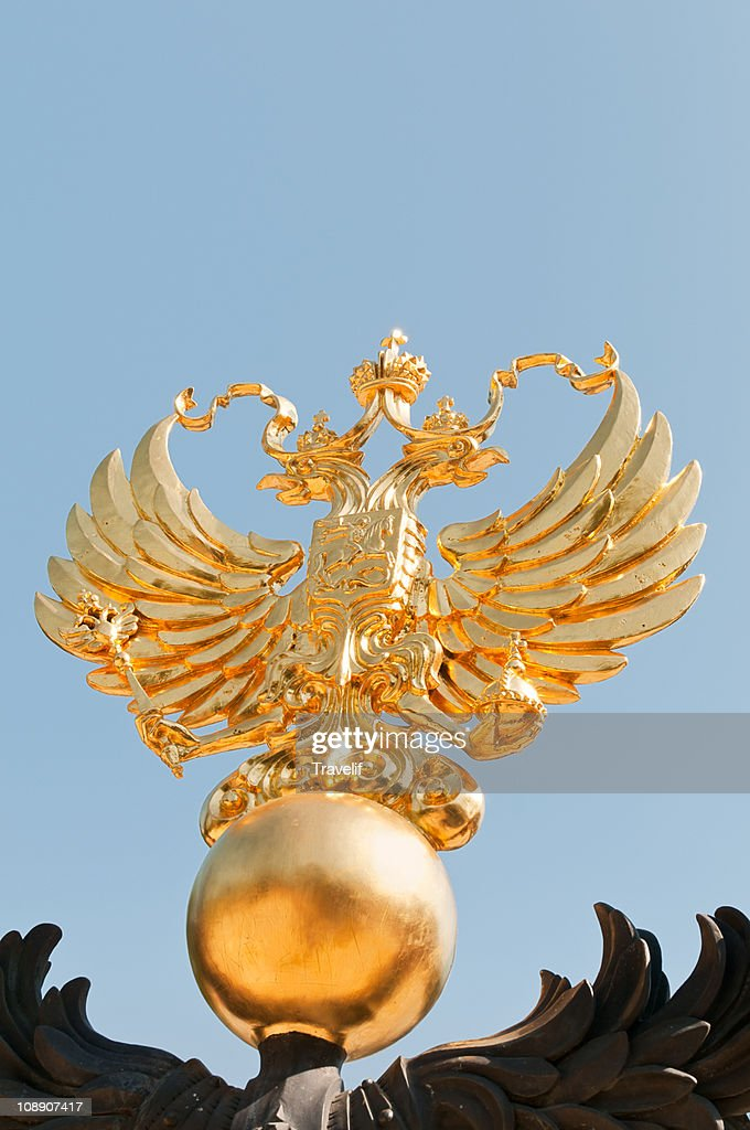 Golden double-headed Eagle is the emblem of Russia
