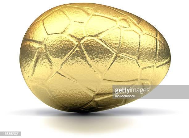 Golden Easter Egg Horizontal