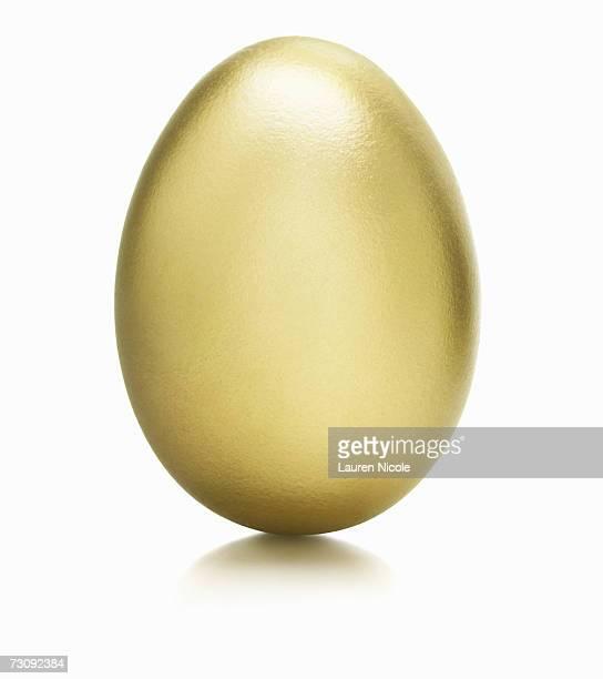 Golden egg, close up