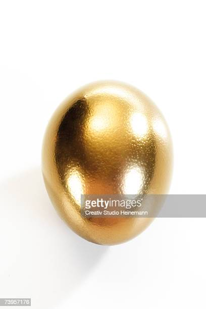 Golden egg, elevated view, close-up