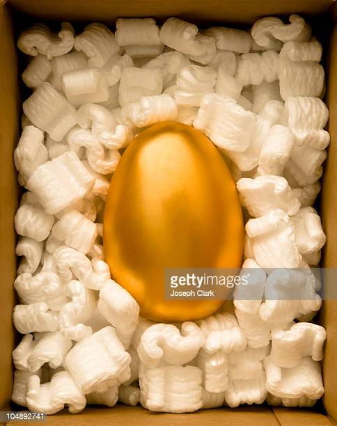 Golden Egg safely packed in a box