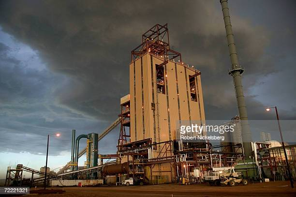 Golden evening light bathes the newly built KFx coal thermal processing plant that produces the company's KFuel June 12 in Gillette Wyoming The $80...
