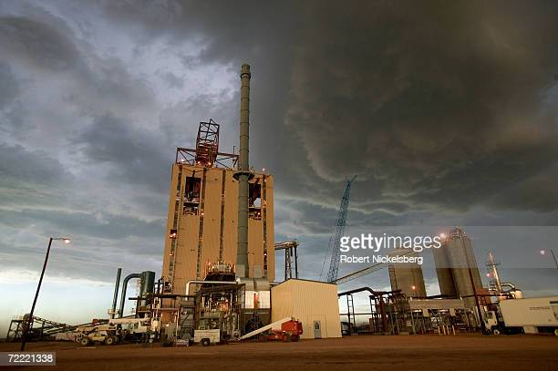 Golden evening light bathes the newly built KFx coal thermal upgrading plant that produces the company's KFuel June 12 in Gillette Wyoming The $80...