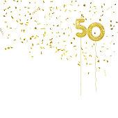 Ideal 50th birthday or golden wedding anniversary.