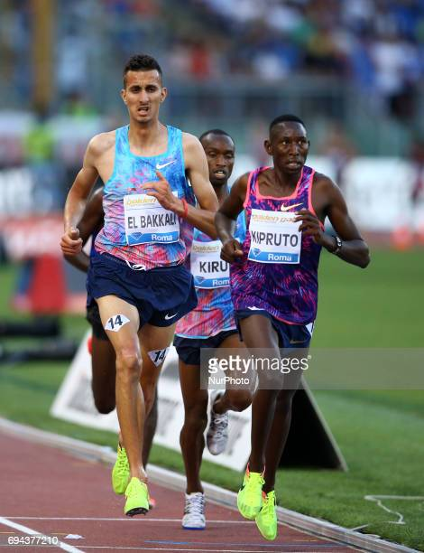 Golden Gala Iaaf Diamond League Rome 2017 Soufiane El Bakkali and Conseslus Kipruto compete in 3000m Steeplechase Men at Olimpico Stadium in Rome...