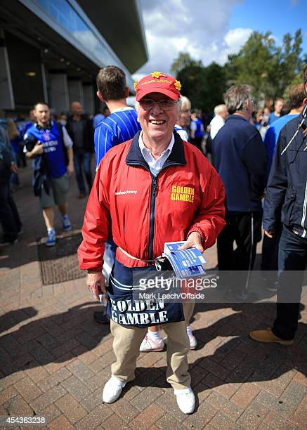 Golden Gamble ticket seller outside the stadium prior to the Sky Bet Championship match between Ipswich Town and Norwich City at Portman Road on...