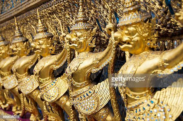 Golden Garuda Sculpture Royal Palace Bangkok
