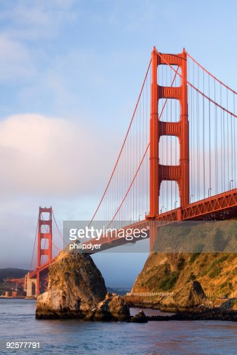 Golden Gate at Sunrise-Vertical