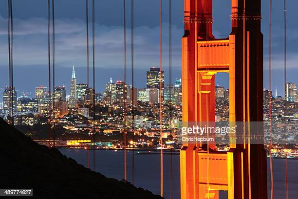 Golden Gate Bridge et la ville de San Francisco, Californie,, États-Unis