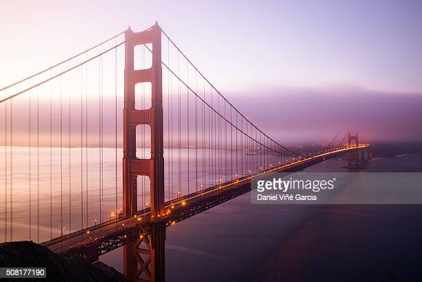 Golden Gate Bridge and evening fog