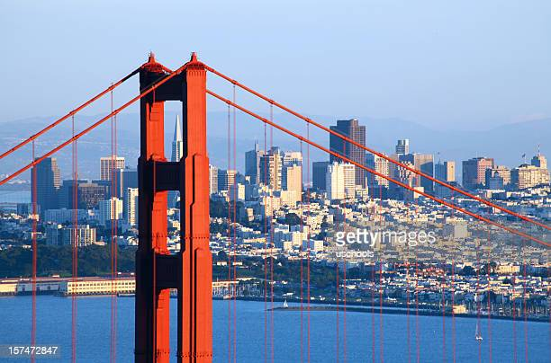 Golden Gate Bridge und die Skyline von San Francisco