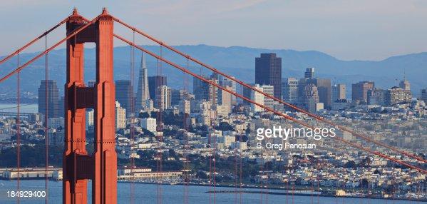 Golden Gate Bridge and San Francisco Skyline