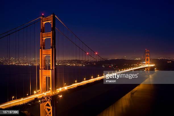 Golden Gate Bridge at dusk, Panoramic San Francisco