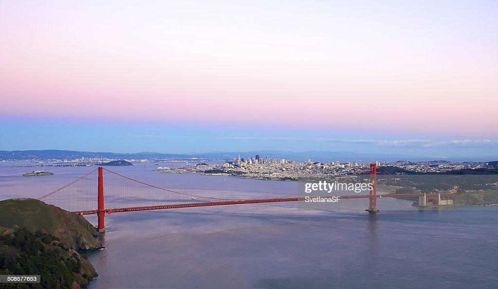 Golden Gate Bridge From Marin Headlands : Stock Photo