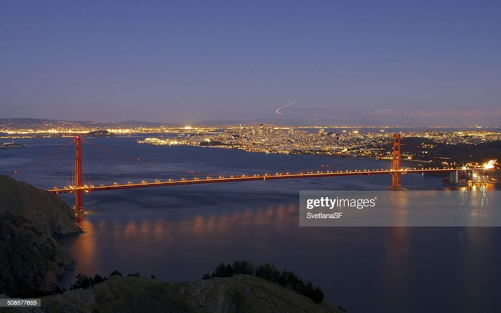 Golden Gate Bridge da Marin Headlands : Foto stock